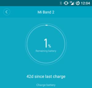 Mi Band 2 разряжается